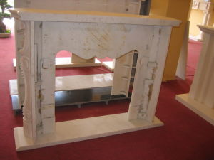 Marble Fireplace Factory, Beige Fireplace Mantel, Fire Place Surround pictures & photos