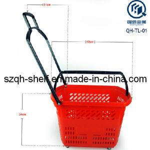Supermarket Basket of Plastic