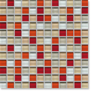 Red Mosaic Tile Glass Square Mosaic pictures & photos