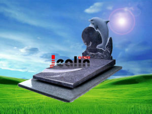 Dolphin Tombstone, Monument, Gravestone (JS-MKM-006)