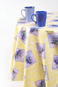"Flannel Backing PVC Table Cloth 0.15mm*54""*100m/Roll pictures & photos"
