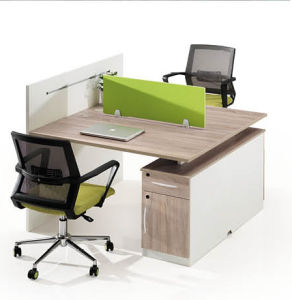 Wooden Melamine Office Desk with Workstation and Screen pictures & photos