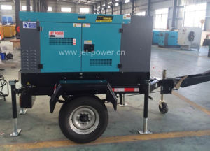 Two Wheels Trailer Diesel Power Generator Price Denyo Type pictures & photos