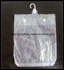 Customized PVC Bag, Plastic Package Bag with Hook, PVC Button Bag, PVC Bag, PVC Garment Bag pictures & photos