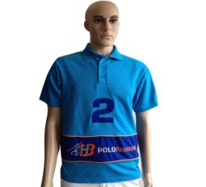 Men′s Polyester/Cotton Casual Polo T-Shirt pictures & photos