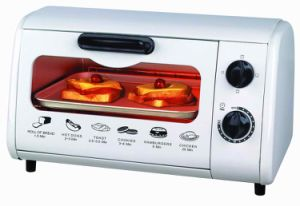Mini Electric Toaster Oven with Capacity of 8L, 600W, with Crumb Tray