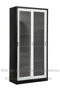 Metal Filing Cabinet with Glass Sliding Door pictures & photos