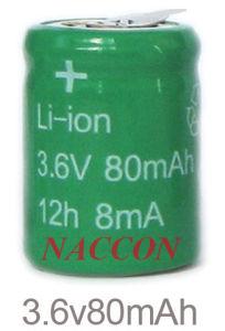 Naccon Li-ion Rechargeable Batteries (Lion-3.6V-80mAh) pictures & photos