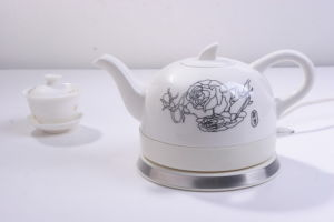 0.6l Novelty Design Ceramic Cordless Electrical Tea Kettle (HY-1081)