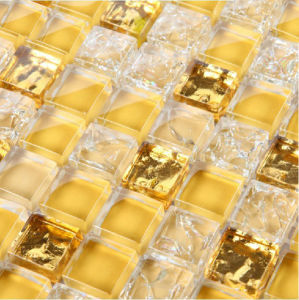 Gold Mosaic Wall Tile, Glass Mosaic (HGM344) pictures & photos