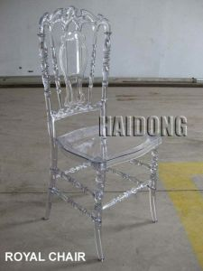Clear Transparent Polycarbonate Resin Royal Chair pictures & photos