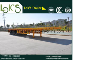 3 Axles Twin Tyre Flatbed Tariler pictures & photos