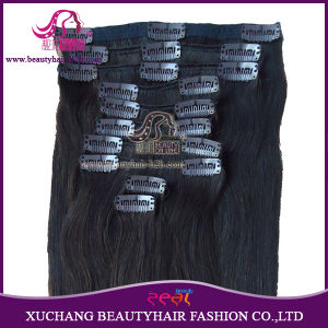 Fashion Hot Sale Thick Heavy Clip on Remy Human Hair Extension in 100g/120g/160/190g/210g/260g/280g/Set pictures & photos