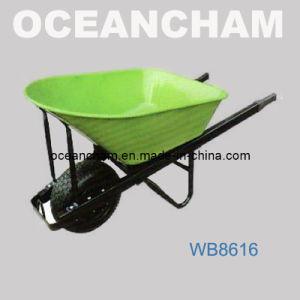 The High Load 200kg Metal Tray Portable Wheel Barrow
