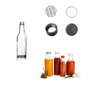 5 Oz Clear Glass Woozy Bottle 24-414 for Chili Sauce