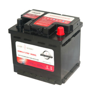 AGM-L1 China Auto Battery 12V 50ah Car Start-Stop Battery pictures & photos