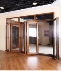 Heavy-Duty Aluminium Glass Folding Door with 10 Years Warranty (pH-8824) pictures & photos