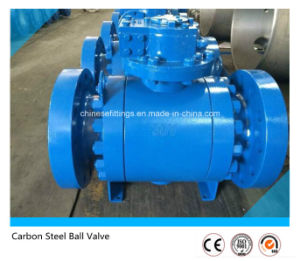 Epoxy Coating Worm Gear Forged Flanged Carbon Steel Ball Valve pictures & photos