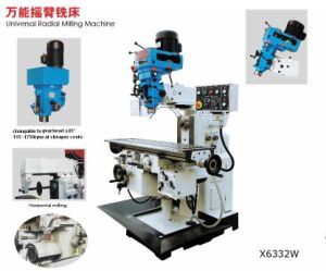 Universal Radial Milling Machine Head Swivel 45 Degree and 360 Degree on Turret (X6332W) pictures & photos