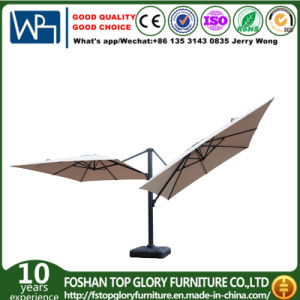 Double Aluminium Roman Umbrellas for Outdoor Furniture (TGTA-001) pictures & photos