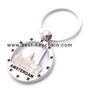 Custom Souvenir Metal Emboss Logo Amsterdam Gift Keyring (BK52490) pictures & photos