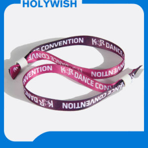 Custom Music Show Silicone/Fabric Wristband with One Time Lock pictures & photos