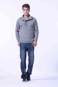 100%Yakwool /Cashmere Knitted Pullover Open Collar Sweaters/Wool Swearters/Clothing/Textile pictures & photos