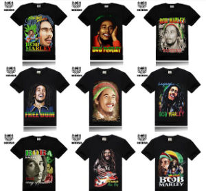 Wholesale Offer Man Spring Men Hip Hop Fashion Bob Marley 3D Shirt Short Sleeve Man T-Shirts Tshirt Brand T Shirt