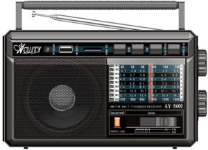 Professional Multi-Bands Portable Radio With USB/SD Slot (AY-8200US)