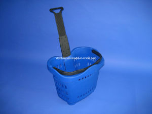 High Quality Rolling Basket with 2 Wheels