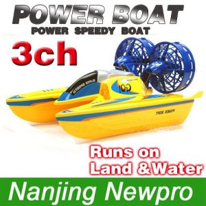 New Arrival! ! ! HV554(B) Remote Control 3 channel Super Racer Hovercraft with Dual Control (HV554(B))