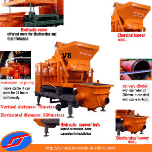 V8 Concrete Mixer Pump Machine