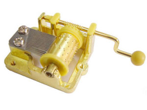 Gold Plated Handcrank Movement