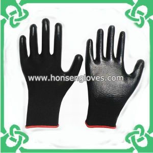 Cheap Black Nitrile Gloves of Best-Quality (GS-201N)