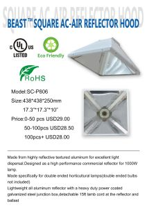 White Reflector Medium 4m Lead Without Lamp pictures & photos