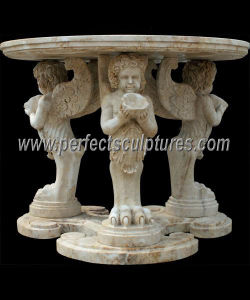 Carved Stone Marble Table for Antique Home Decoration (QTB046) pictures & photos