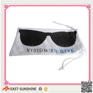 Microfiber Optical Lens Drawstring Pouches with Logo Printing pictures & photos