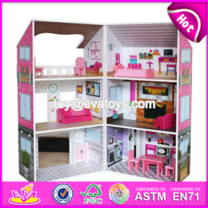 Best Luxurious and Attractive Six Rooms Wooden Doll House Play for Kids W06A245 pictures & photos