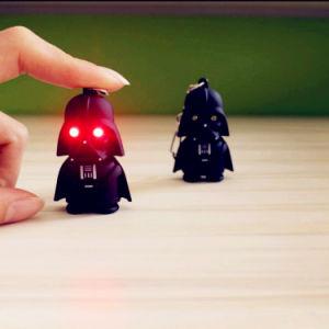 Hot New Black Samurai LED Voice Keychain pictures & photos