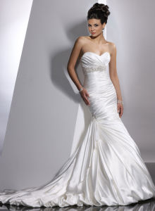 Jsm1307 Unforgetful Classic Satin Irregular 2010 Wedding Dresses pictures & photos
