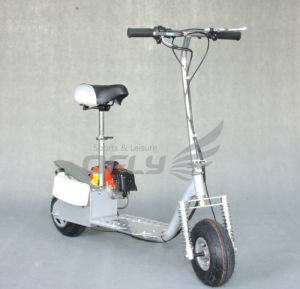 Foldable Gas Scooter with Steel Board (GS4903) pictures & photos