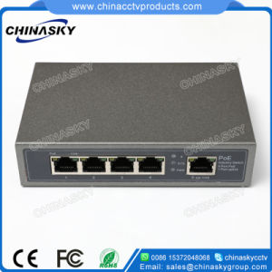 4 +1 Ports Poe Power Supply Network Switch for IP Camera (POE0410) pictures & photos