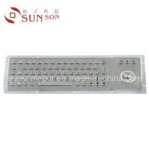 Metal Keyboard With Trackball for Kiosk Usage (SPC392AG)