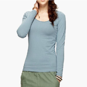 Top Quality Gray Autumn Blank Cotton Women Clothes pictures & photos