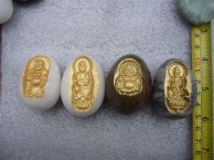 Engraved Buddha Eggs Stones