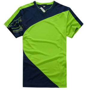 Custom Mens 100 Polyester Dry Fit Football T Shirt pictures & photos