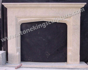 Carved Natural Indoor Marble Fireplace (SK-2538) pictures & photos