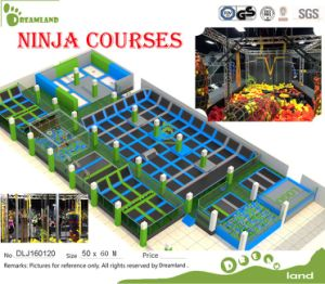 Trampolines with Many Games Like Ninja Course Newest Trampoline Park pictures & photos