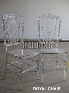 modern Banquet Wedding Furniture Clear Transparent Polycarbonate Resin Royal Chair pictures & photos