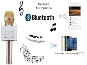 Portable Wireless Q7 Microphone Bluetooth Stereo Karaoke Microphone pictures & photos